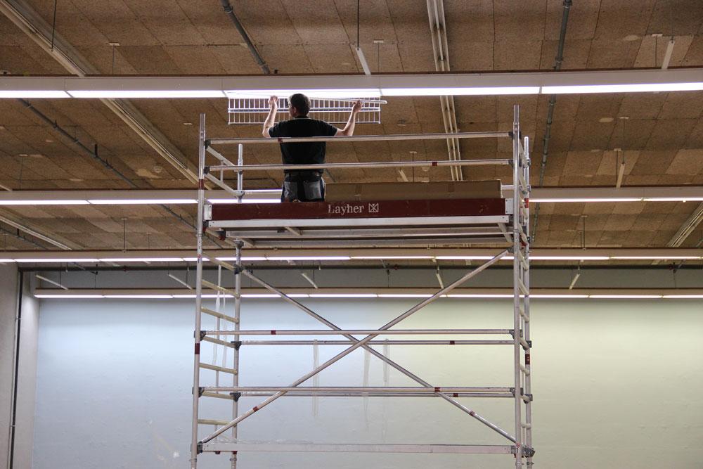 Badmintonhalle mit neuer LED Beleuchtung