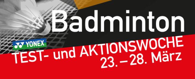 Test- und Aktionswoche Badminton –Yonex Rackets testen